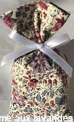 Petit sachet de fleurs de Lavande Petites fleurs bleues-roses