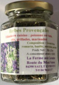 Bocal d'herbes de Provençales aux Fleurs de Lavande Fine