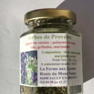 Bocal d'herbes de Provence nature