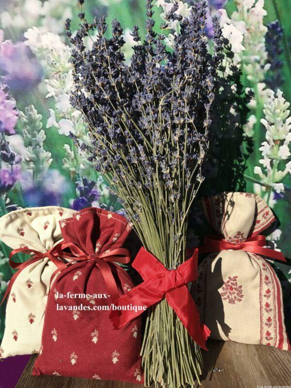 Bouquet nœud & sachets rouges b