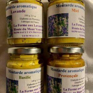 Moutardes aromatiques aux plantes aromatiques ou saveurs de Provence