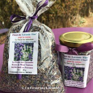 Fleurs de Lavande pour la cuisine & Herbes Provençales